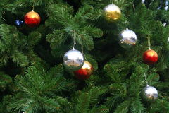 Chrismas balls background Royalty Free Stock Photography