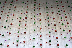 Christmas balls on wall Stock Photography
