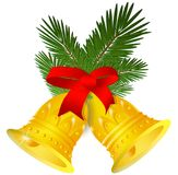 Chrismas bells. Holiday bells decoration computer illustration Stock Photography