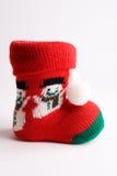Chrismas boot. Boot of santa claus on white bottom Royalty Free Stock Photos