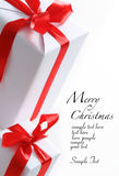 Chrismas box (easy to remove the text) Stock Images