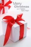 Chrismas box (easy to remove the text) Stock Image