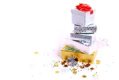 Chrismas boxes Royalty Free Stock Image