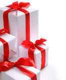 Chrismas boxes Stock Images