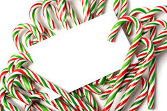 Chrismas Candy Cane Notecard or Invitation Royalty Free Stock Image