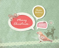 Chrismas card Royalty Free Stock Images