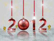 Chrismas card. Christmas card with numbers 2012 Stock Image