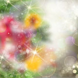 Chrismas colorful background. With bright beams and sparkles royalty free illustration
