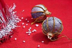 Chrismas of de nieuwe decoratie van de jaarboom stock foto