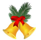 Chrismas decorations bells. Holiday bells decoration computer illustration Royalty Free Stock Images
