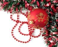 chrismas dekoraci czerwień Zdjęcie Royalty Free