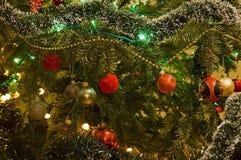 chrismas dekoraci drzewo Zdjęcie Stock