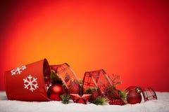 Chrismas en Nieuwjaarachtergrond Royalty-vrije Stock Fotografie
