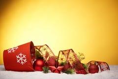 Chrismas en Nieuwjaarachtergrond Stock Fotografie