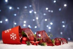Chrismas en Nieuwjaarachtergrond Stock Afbeeldingen