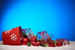 Chrismas en Nieuwjaarachtergrond Stock Afbeelding