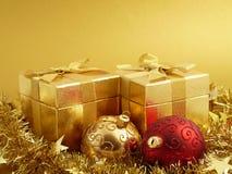Chrismas-Geschenke Stockfoto