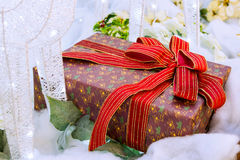 Chrismas and gift. Royalty Free Stock Photos