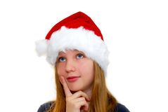 Chrismas girl Royalty Free Stock Images