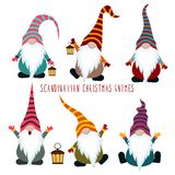 Chrismas gnomes collection royalty free illustration