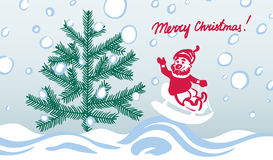Chrismas greeting card Stock Image