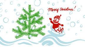 Chrismas greeting card Royalty Free Stock Photos