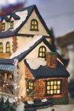 Chrismas Haus Stockfoto