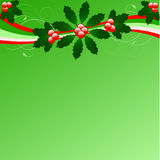 Chrismas holly background Royalty Free Stock Images