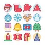 Chrismas Icon Set with santa claus