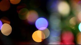 Chrismas ilumina o bokeh vídeos de arquivo