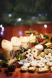Chrismas a mélangé des bonbons à la décoration de chrismas images libres de droits