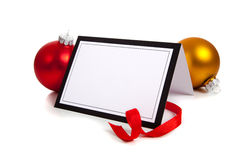 Chrismas Notecard ou message Images libres de droits
