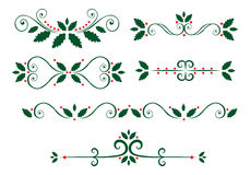Chrismas page decorations Royalty Free Stock Photography