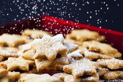 Chrismas pastries & powdered sugar 5 Stock Photography