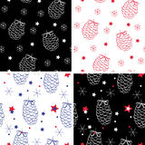 Chrismas pattern Stock Images