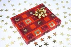 Chrismas present. A red christmas present box Stock Photos