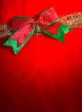 Chrismas red bow Stock Photo