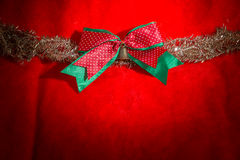 Chrismas red bow Stock Photography