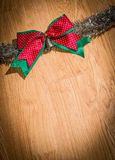 Chrismas red bow Royalty Free Stock Photos