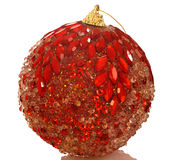 Chrismas red bright ball. Isolated Stock Photography