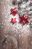 Chrismas red stars Stock Photos