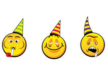 Party smiley faces Stock Images