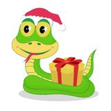 Chrismas snake Royalty Free Stock Images