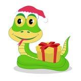Chrismas snake Royalty Free Stock Images
