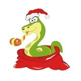 Chrismas snake symbol of 2013 year Stock Photography