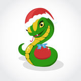 Chrismas snake. Symbol of 2013 year. Stock Images