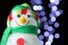 Chrismas snowman Stock Photos