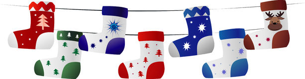 Chrismas socks Royalty Free Stock Photo