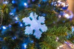 Chrismas tła drzewny kolorowy bokeh Zdjęcie Stock
