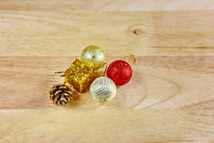 Chrismas toy decorations Royalty Free Stock Photos